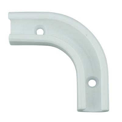 MW-1w. Montagewinkel für Schlauch (6-8mm) Winkelklemmleiste (weiß)