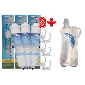 M-3/G1. 3 Stk. externer Wasserfilter,  Microfilter + Faltflasche