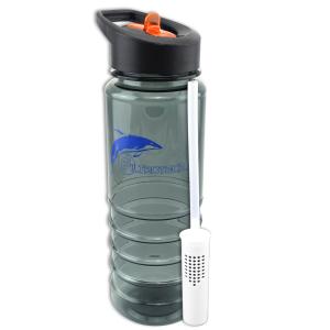 TFL+FT. Trinkflasche mit Aktivkohlefilter, Tritan. 0,75L