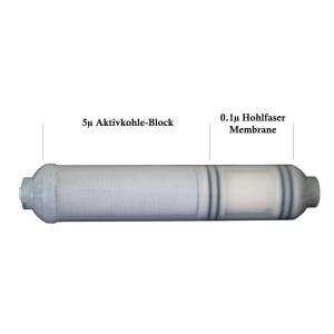 HF-1 Filterkartusche - Hohlfaser Membrane mit Aktivkohle...