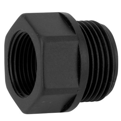 "Adapter - Reduzierstück 1""AG - 3/4""IG (Kunststoff,  schwarz)"