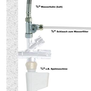 """T-Stück 3/8"""" IG x 3/8"""" AG x 3/8"""" Klemmverb. (JACO) Wasseranschluss"""