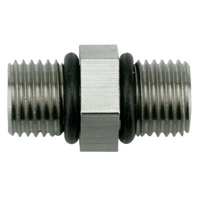 """Doppelnippel mit O-Ringen 1/4"""" AG (Metall)"""