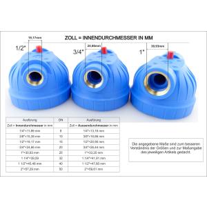 GPV5-1N. Gehäuse 5Zoll, Anschluss 1Zoll. Filtereinsatz NET