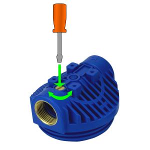 GPV5-1Y.  Gehäuse 5Zoll, Anschluss 1Zoll inkl. Faserfilter 20µ