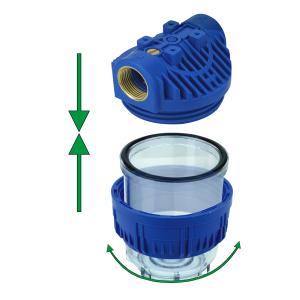 GPV5-34N. Gehäuse 5Zoll, Anschluss 3/4Zoll. Filtereinsatz NET