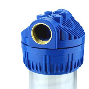 GPV101-3Y. Gehäuse 10 Zoll, Anschluss 1Zoll, 3x Filtereinsatz Yarn