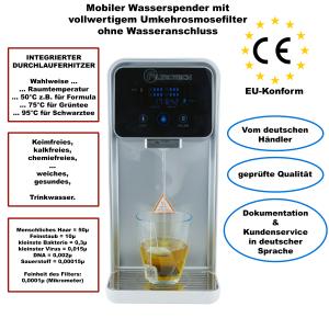 Wasserspender mit intergriertem Osmosefilter ohne Wasseranschluss