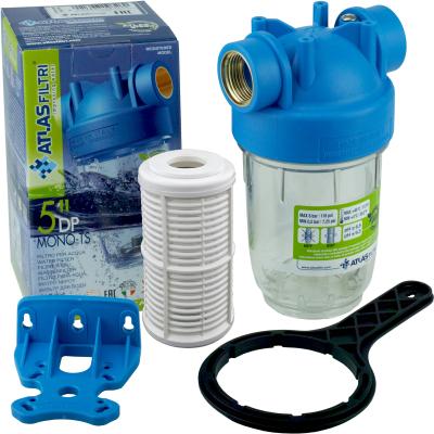"""GPV-AT 5"""" Wasserfilter m. Filtereinsatz, Anschluss 1"""" Hauswasserwerk Gartenpumpe"""
