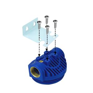 GPV5-3FF. Gehäuse 5Zoll, Anschluss 1Zoll inkl. 3x Faltenfilter