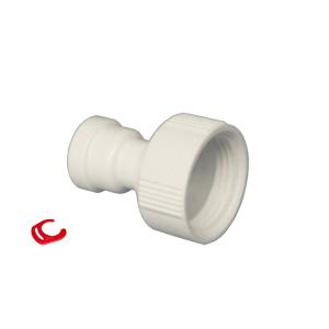 AN-(K). Anschluß aus Kunststoff 3/4 IG auf 1/4 AG Schlauch (6mm)